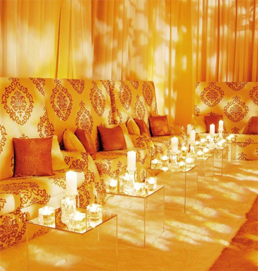 orange wedding lounge