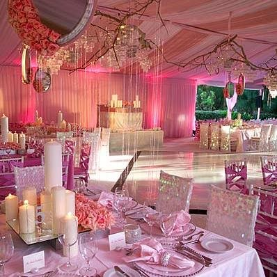 Pink Reception Theme Calgary Wedding Planners Banff Canmore