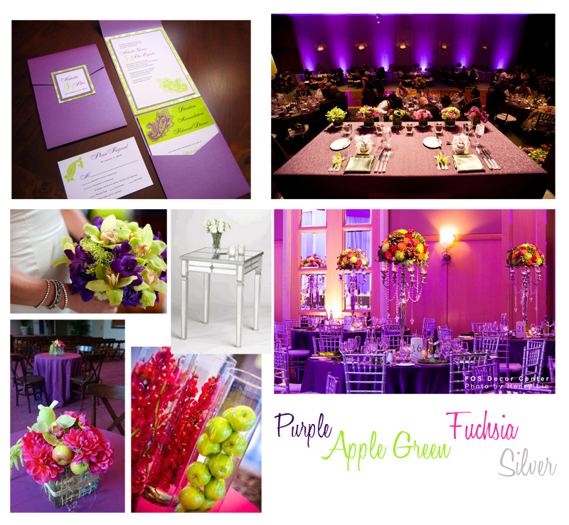 Purple And Apple Green Wedding