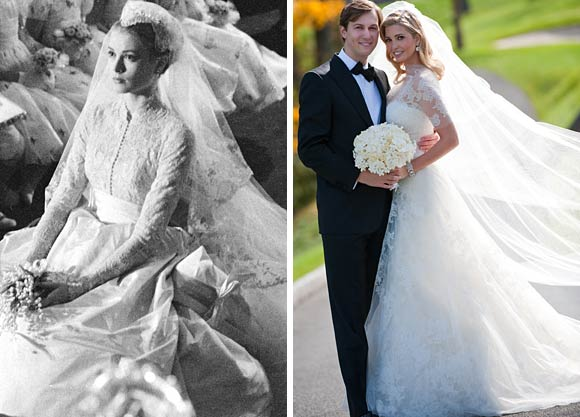 kate middleton and grace kelly wedding dress. These gowns are the epitome of