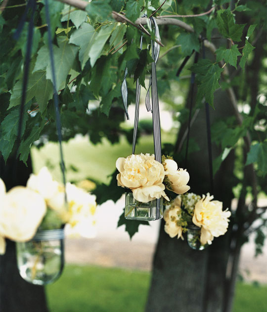 Hanging Vases At Wedding Calgary Wedding Planners Banff Canmore