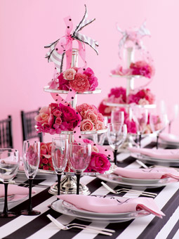 black_white_pink wedding ideas