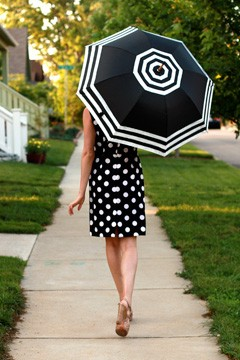 Black  White Striped Dress on My Fair Lady Inspired Black And White Wedding   Calgary Wedding Design