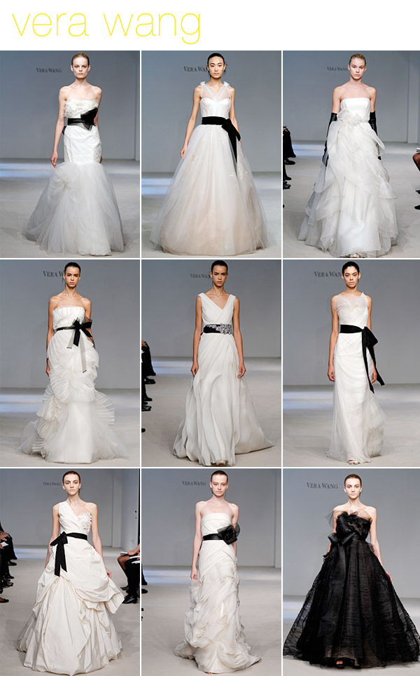 Vera Wang black and white wedding dresses