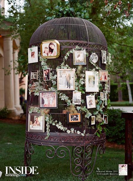 Calgary weddings My Favourite Monday birdcage photo display