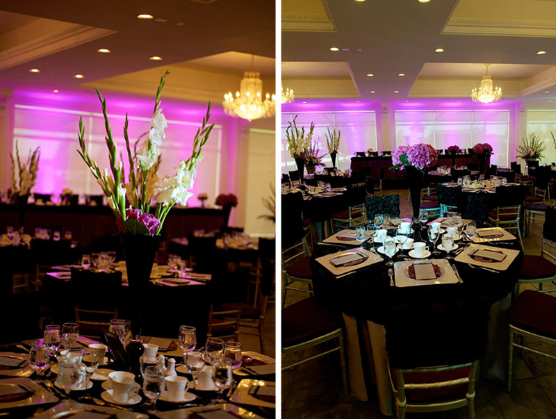 Spruce Meadows wedding black and purple