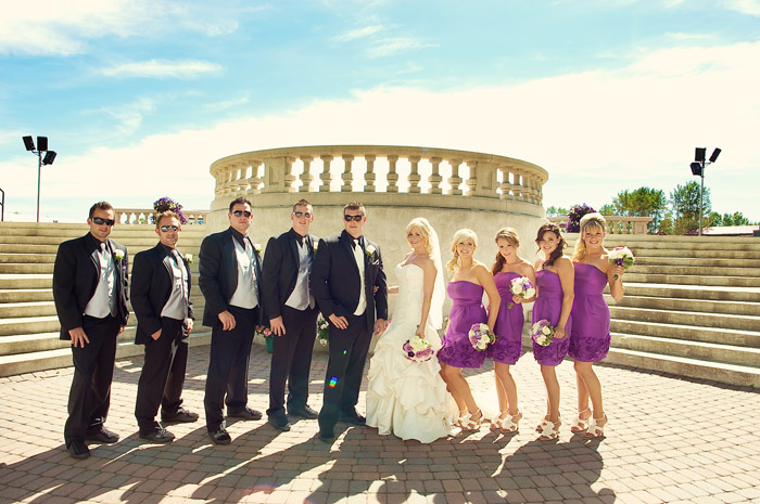 Spruce Meadows purple wedding