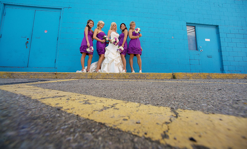 Purple bridesmaids K&J wedding