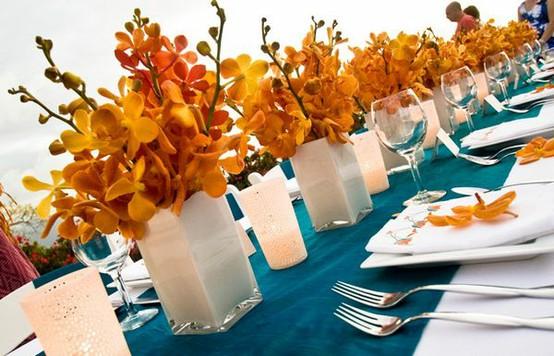 Orange Teal Wedding Colors
