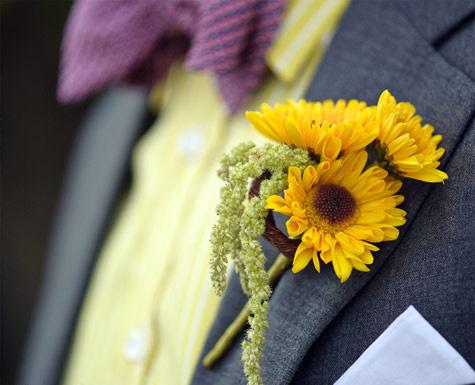 sunflower_wedding_boutonniere