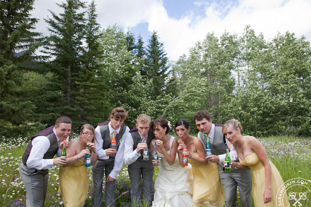 banff wedding fun