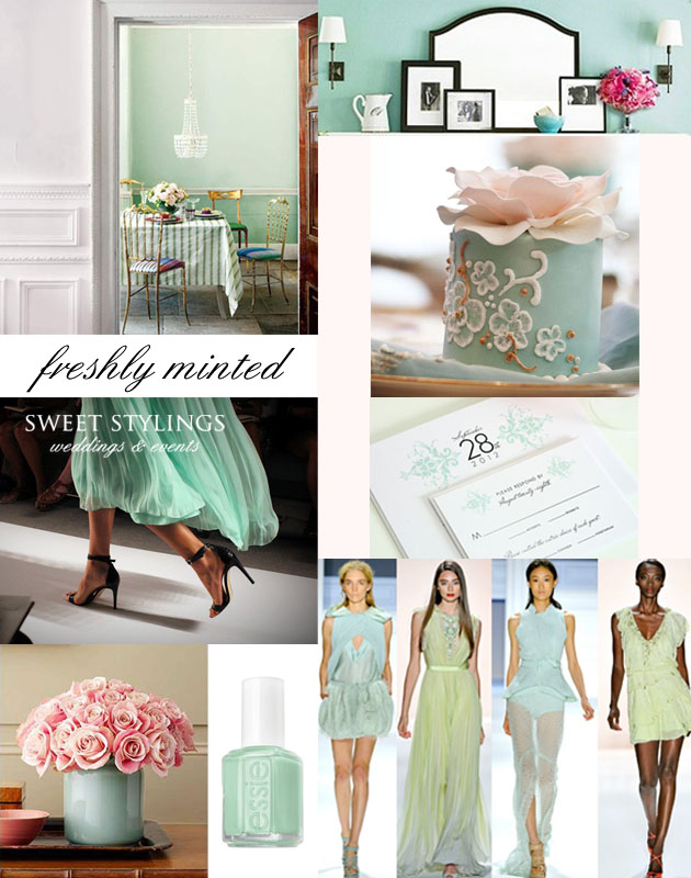 What about your Spring wedding mint green wedding inspiration