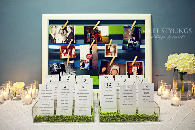 seating chart idea calgary wedding