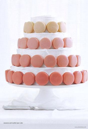 Calgary sweet table design: DIY macaron cake » Calgary Wedding ...