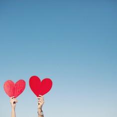 heart engagement photos