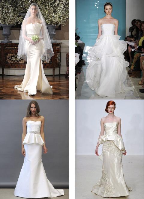 2013 wedding dress trends calgary wedding planner for Peplum dresses for weddings