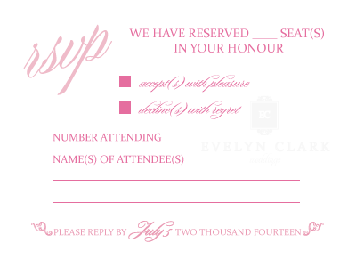Prevent unexpected wedding guests with your RSVP card