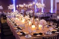 Gold sequin black white purple wedding | Westin | Calgary wedding venue | Evelyn Clark Weddings