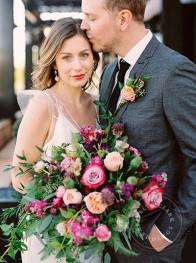 Rooftop wedding Charbar | Calgary wedding venue | Modern rustic wedding | Evelyn Clark Weddings