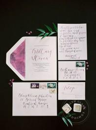 calligraphy wedding invitation calgary | Evelyn Clark Weddings