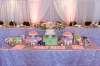 Pastel macaron Laduree wedding | Banff wedding | Rimrock | Evelyn Clark Weddings