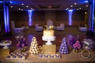 Purple gold macarons | Calgary wedding | Evelyn Clark Weddings