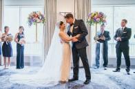Rimrock wedding ceremony | pastel wedding | Banff wedding venue | Evelyn Clark Weddings