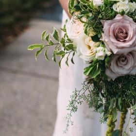 blush white greenery bouquet
