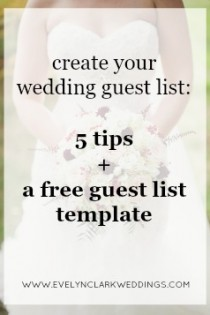 Wedding guest list template free download | Calgary weddings | Evelyn Clark Weddings