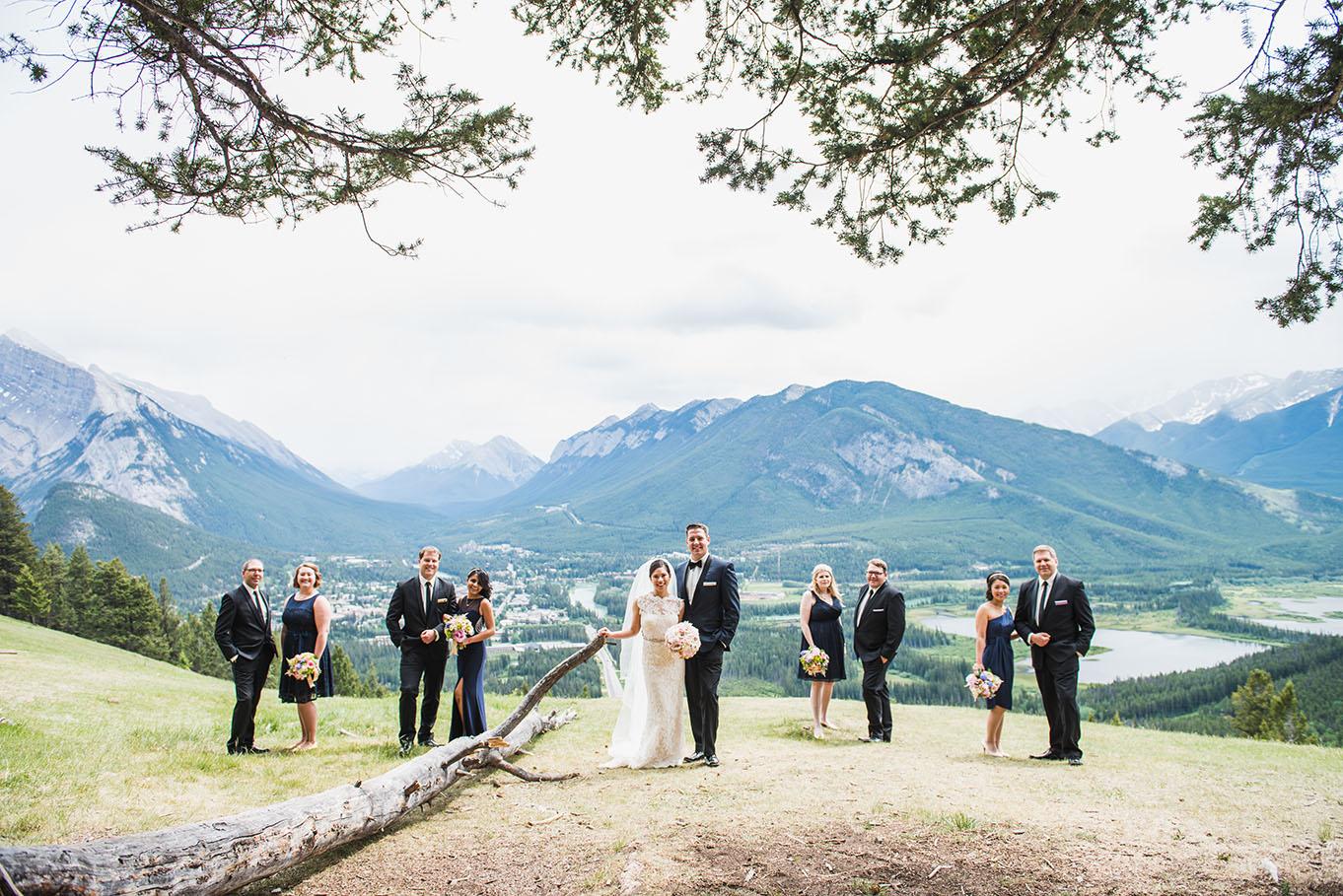 Banff Canmore Lake Louise Calgary Rocky Mountain Wedding: Banff Wedding Rimrock SD Party · Calgary Wedding Planners
