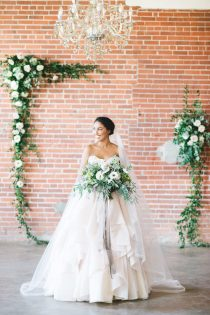 calgary wedding ceremony_industrial classic white blush green
