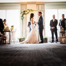 rimrock resort banff wedding indoor ceremony