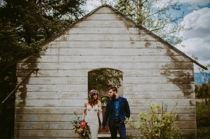 Boho wedding design Banff