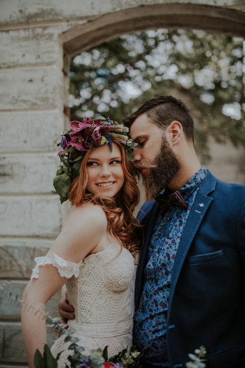boho wedding bride and groom ideas