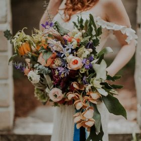 Boho bouquet Banff wedding