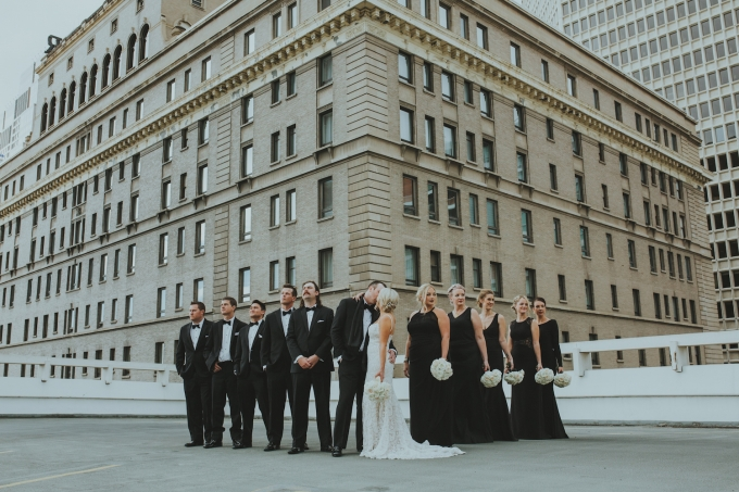 Fairmont Palliser Calgary wedding_wedding party