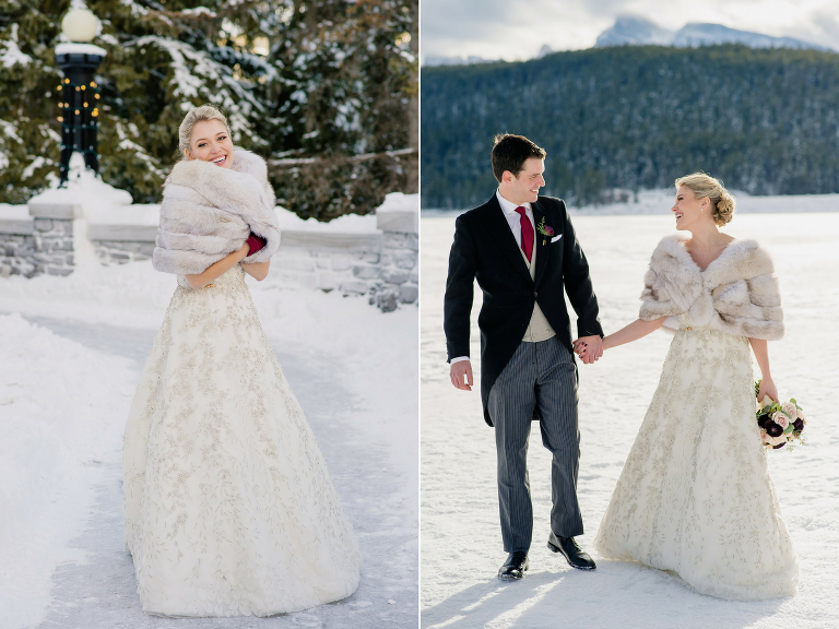 Fairmont Banff Springs Romantic Winter Wedding Calgary